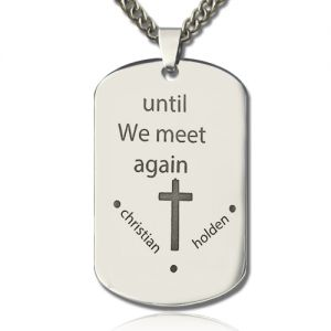 Custom Inspirational Dog Tag Engraved Cross