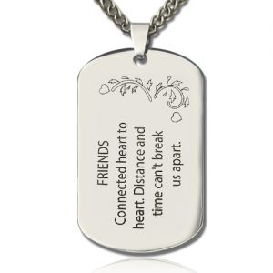 Titanium Steel Best Friends Dog Tag Name Necklace