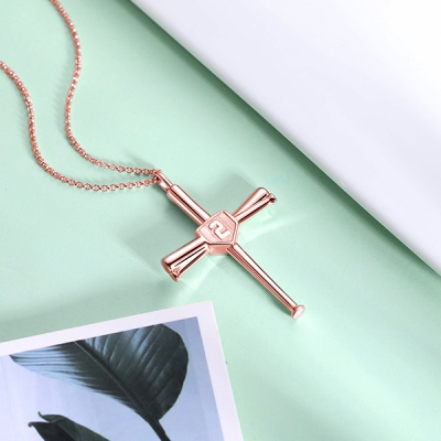 baseball line necklace