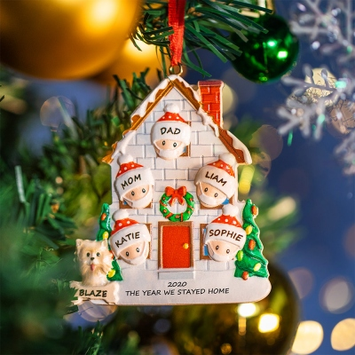 Personalized Family Stay Home 2020 Christmas Ornament