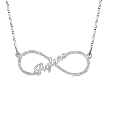 Personalized Stainless Steel Infinity Name Necklace