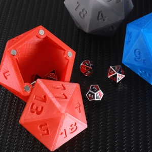 Personalized 3D Print DND Dice Container