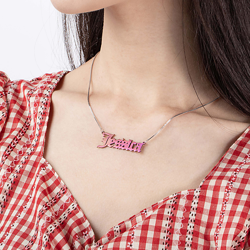 Personalized Colorful Name Necklace for Gift