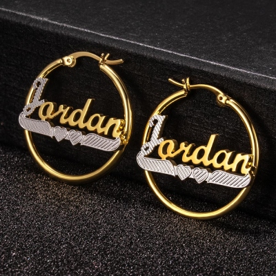 Personalized Hoop Name Earrings