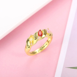 Horse Eye Birthstone ring