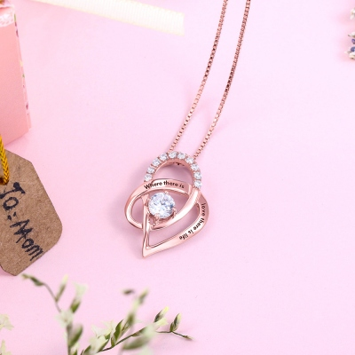 heart pendant with birthstone