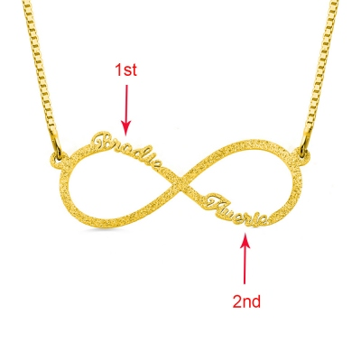 Personalisierte Sparkling Infinity Name Halskette in Gold
