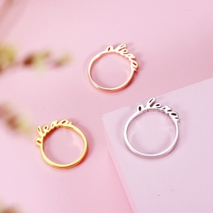 Personalized Stackable Name Ring