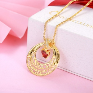 Personalized Eternal Embrace Name Necklace