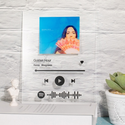 Customized Scannable Spotify Code Music Plaque with a Free Keychain