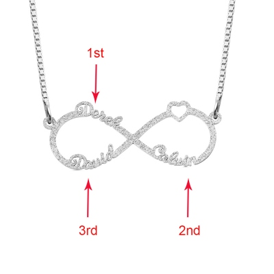 Infinity Name Personalized Stainless Steel Infinity Name NecklaceNecklace