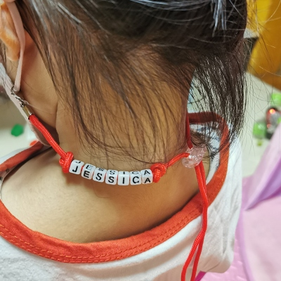 Personalized Colorful Children Mask Adjustable Lanyard