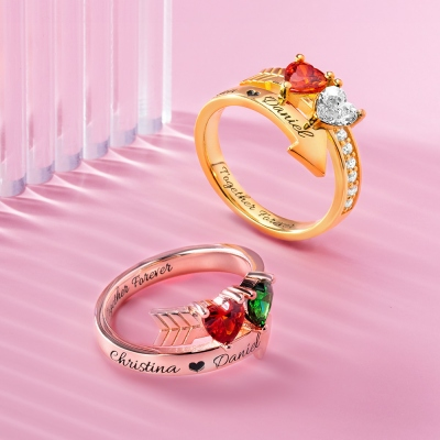 Personalized Cupid's Arrow Ring