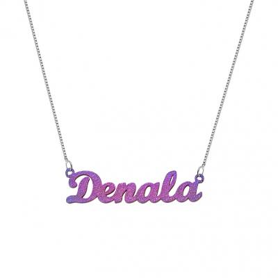 Personalized Colored Name Necklace