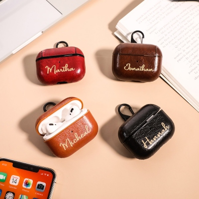 Personalized Leather AirPods Pro Case