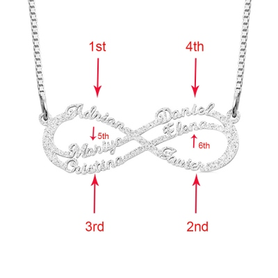 Infinity Name NecklacPersonalized Stainless Steel Infinity Name Necklacee