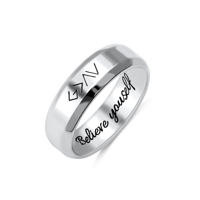 "Engraved ""God is greater than the highs and lows"" Ring in Silver"