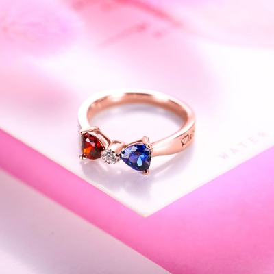 """February Ladies must have"" Custom Heart Birthstone Bow Ring"
