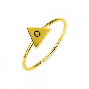 Personalized Triangle Initial Stackable Rings