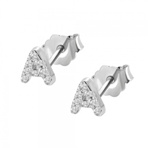 Personalized Initial Studs Alphabet Earrings 2 Pack