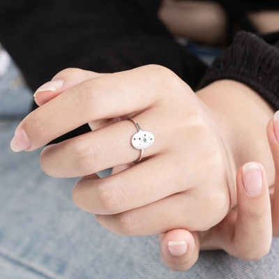 Personalized Star Signet Ring for Her