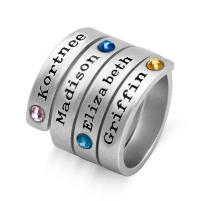 Personalized Birthstone Wrap Ring