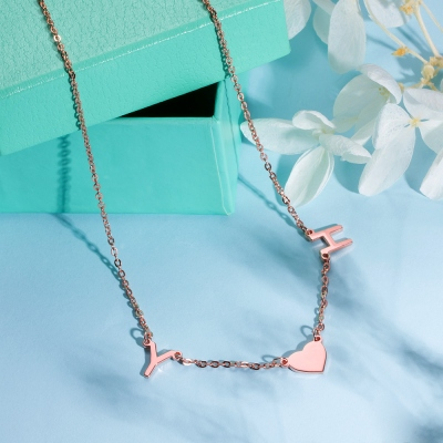 Personalized 1-8 Initials Necklace