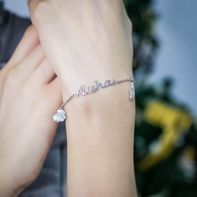 Personalized Christmas Name Bracelet