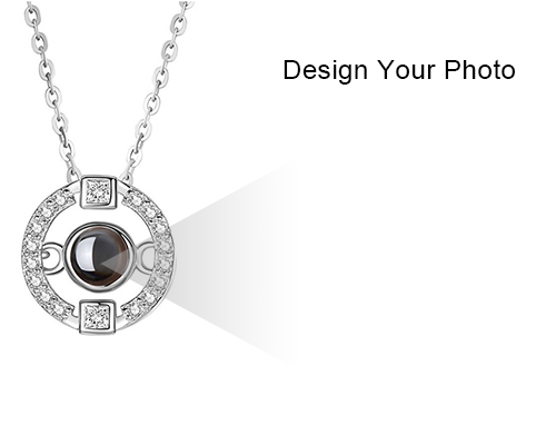 Personalized Photo Amp 100 Languages Projection Necklace