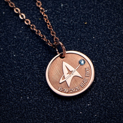 Personalized Trek Name Necklace