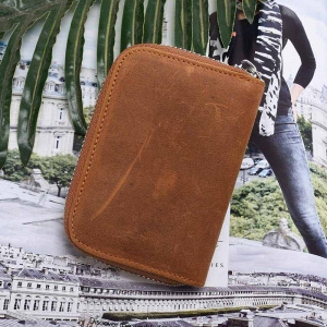 Personalized Leather Credit Card Holder Wallet