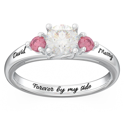 3-Stone Name Promise Ring