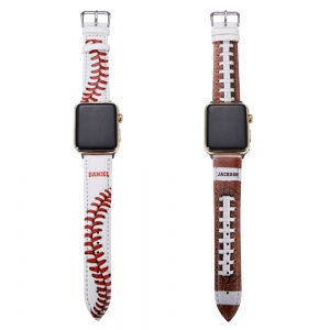 Customized Baseball/Football Watch Band for Apple Watch