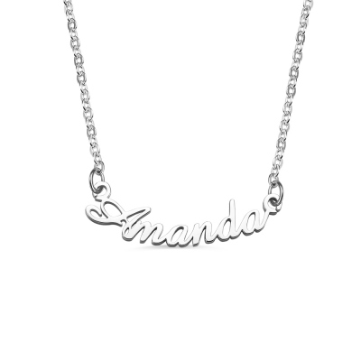 Personalized Smile Name Necklace