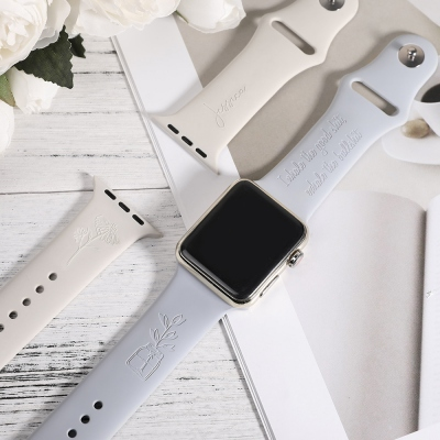 Personalized Flower Apple Watch Band