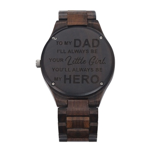 Personalized Ebony Watch for Dad
