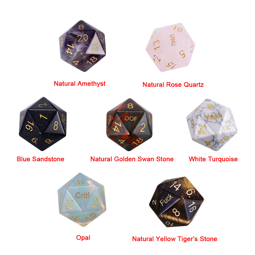 Personalized D20 Dice For DND Gamers