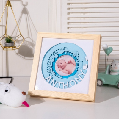 Custom Newborn Birth Announcement Photo Fame for Newborn Gift