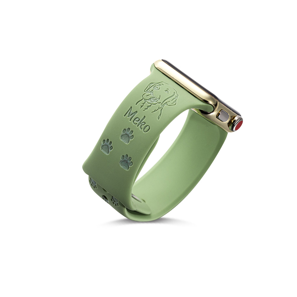 Personalized Dog Breed Pet Avatar Apple Watch Band