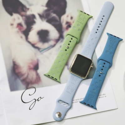 Personalisierte Hunderasse Haustier Avatar Apple Watch Band