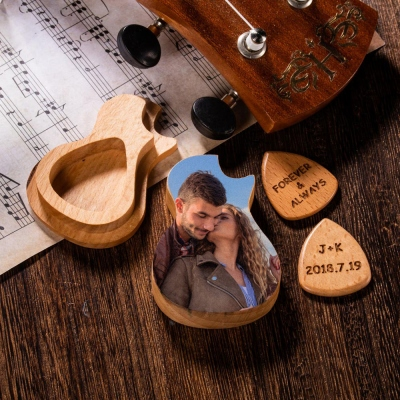 Personalized Photo/Engraving Guitar Picks With Case
