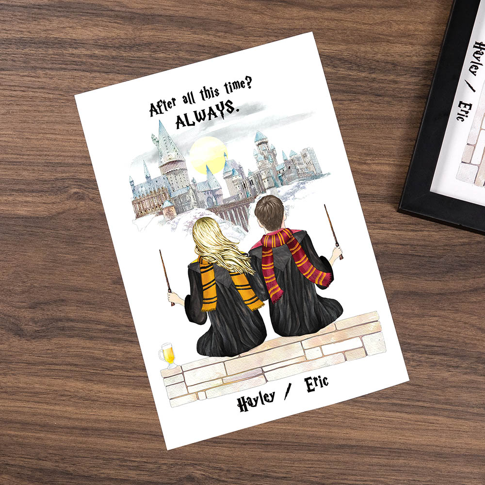 Custom Harry Potter Print Couples Gift for Valentines