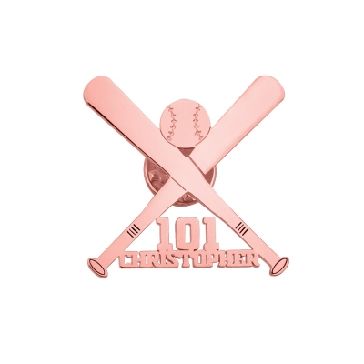 Personalized Baseball Brooch for Baseball Enthusiast