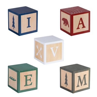 Name Blocks Woodland Nursery Decor