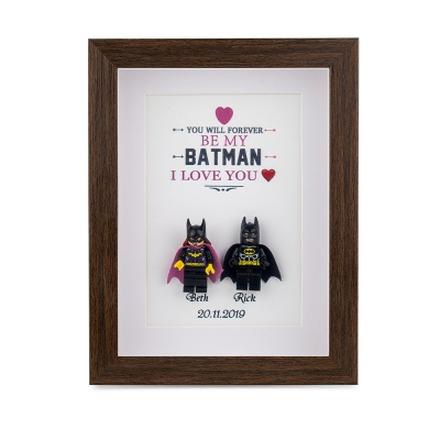 Personalized Superhero Frame for Couple
