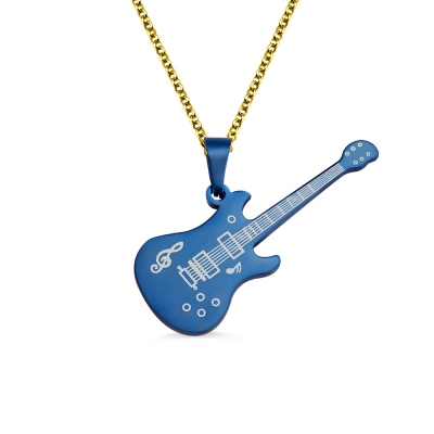 Personalized Guitar Necklace Gifts for Guitar Enthusiast