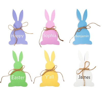 Personalized Easter Bunny Easter Decor Bunny