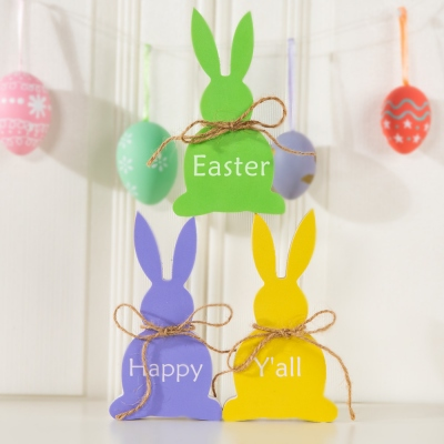 Personalized Easter Bunny Easter Decor Wooden Bunny