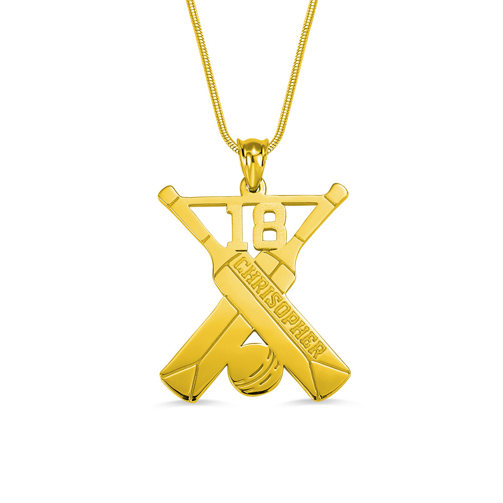 Personalized Cricket Memorial Necklace