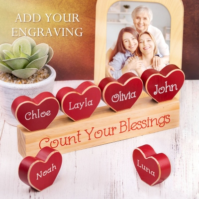 Personalized Name Heart Ornaments Home Decor